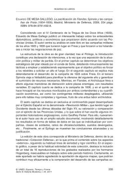 E La pacificación de Flandes. Spínola y las campa- ISBN: 978-84-9781-492-8.