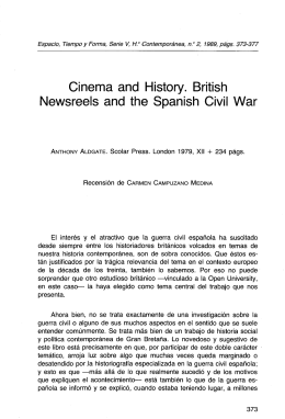 Cinema and History. British Newsreeis and the Spanish Civil War