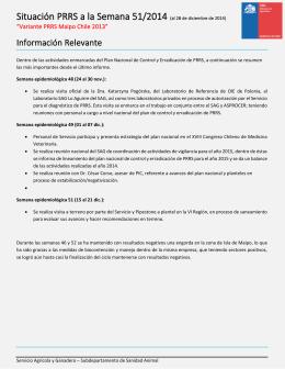 Actualización PRRS. Informe hasta semana 51