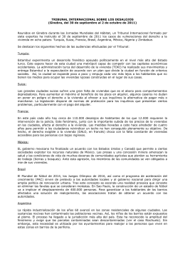 Recomendaciones Tribunal Internacional sobre Desalojos (Geneva, 30 sep. - 2 oct. 2011, ES).pdf [67,60 kB]
