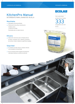 lavavajillas manual ecolab