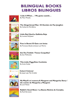 Bilingual Children's books