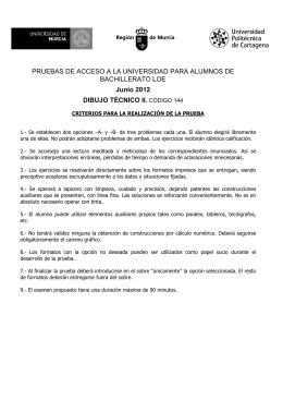 PRUEBAS DE ACCESO A LA UNIVERSIDAD PARA ALUMNOS DE BACHILLERATO LOE