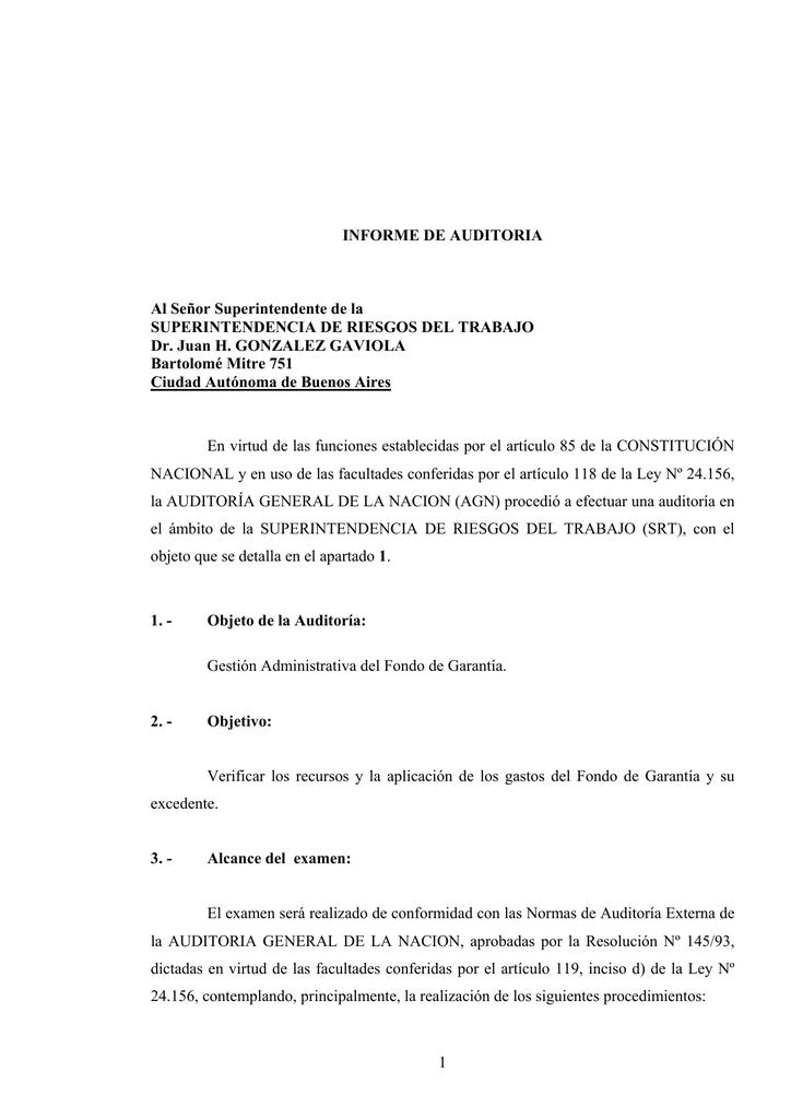 Fondo de garantia articulo 33 ley 24557