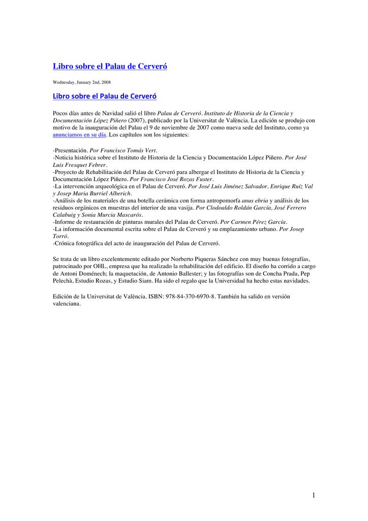 Blog historiadelamedicina.org (enero 2008 a febrero 2008)
