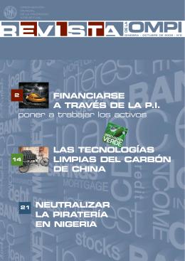 FINANCIARSE A TRAVÉS DE LA P.I. LAS TECNOLOGÍAS LIMPIAS DEL CARBÓN