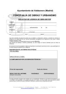 Licencias Obra Mayor