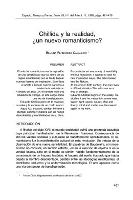Chillida y la realidad, ¿un nuevo romanticismo?