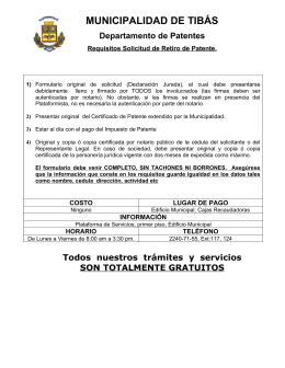 Requisitos Retiro Patente