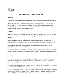 "CONVOCATORIA ""Laboratorio 8x8"""