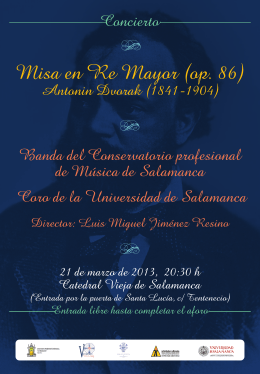 Misa en Re Mayor (op. 86) Banda del Conservatorio profesional