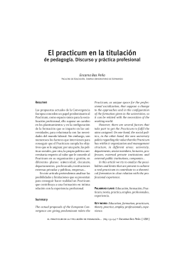 El practicum en la titulación de pedagogía. Discurso y práctica profesional