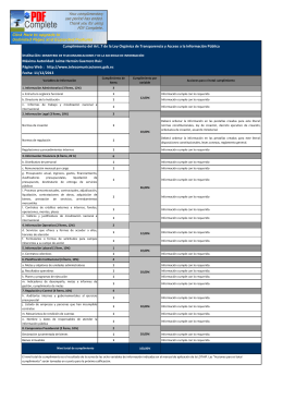 Ver Calificación mes de Noviembre 2013 - Publicado 15/1/2014