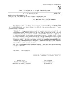 [b]COMUNICACION B 8814 (19/09/2006).