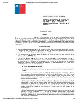 Modifica resolución N° 5,353 de 2013 del plaguicida Balear 720 SC en el sentido que autoriza la modificación de uso y sustituye su etiqueta