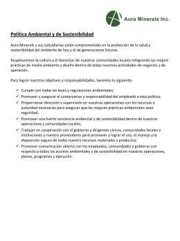 Environmental Policy (Spanish)