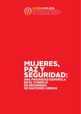 'Mujeres, paz y seguridad: una prioridad española en el Consejo de Seguridad de NN.UU.' (.pdf)