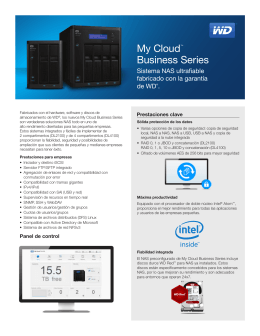 My Cloud Business Series Sistema NAS ultrafiable fabricado con la garantía