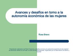 Avances y desafíos en torno a la Rosa Bravo
