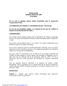 RESOLUCIÓN 1792 DE 1990