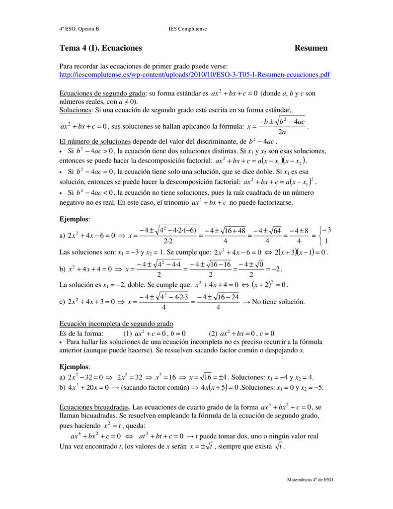 Conceptos básicos: Ecuaciones