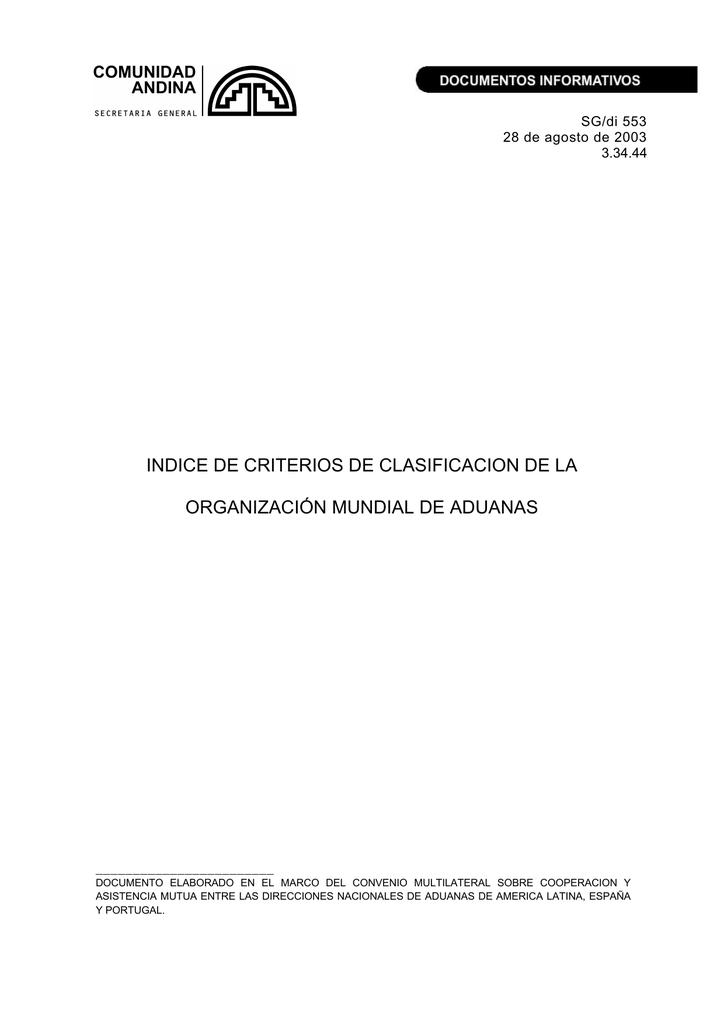 Indice de Criterios de Clasificacion de la OMA df1522a154e