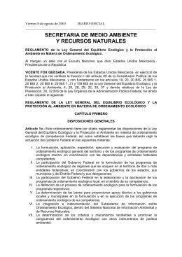 Reglamento en materia de Ordenamiento de la LGEEPA
