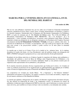 application/pdf Marcha por la vivienda Guatemala (español, 2006).pdf [467,27 kB]