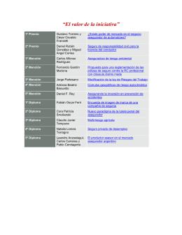 PREMIO DEL SEGURO 2006 - Los 12 trabajos finalistas