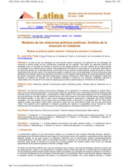 Revista Latina de Comunicación Social 63 enero – 2008