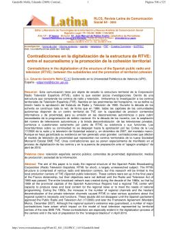 RLCS, Revista Latina de Comunicación Social 64 - 2009