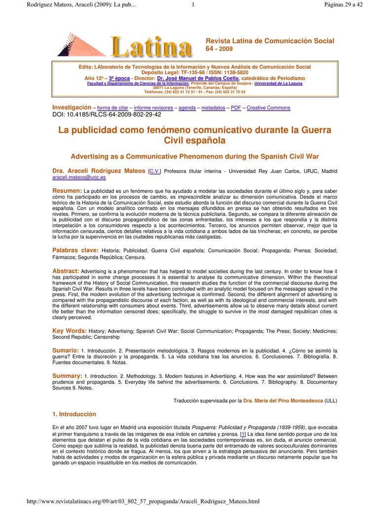Revista Latina de Comunicación Social 64 - 2009