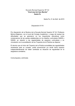 Disposición 01/15
