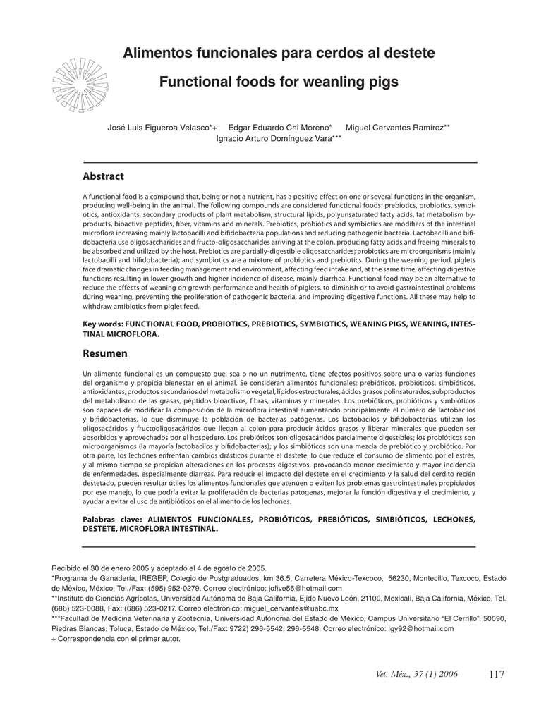 alimentos funcionales probioticos y prebioticos pdf