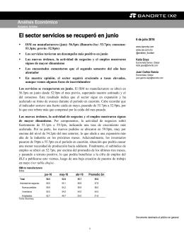 07/06/2016 EEUU: El sector servicios se recuperó en junio.