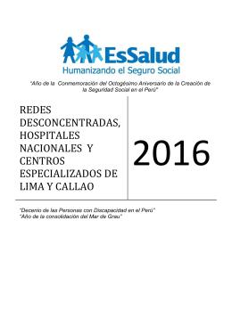 2.- Redes Asistenciales y Centros Especializados de Lima