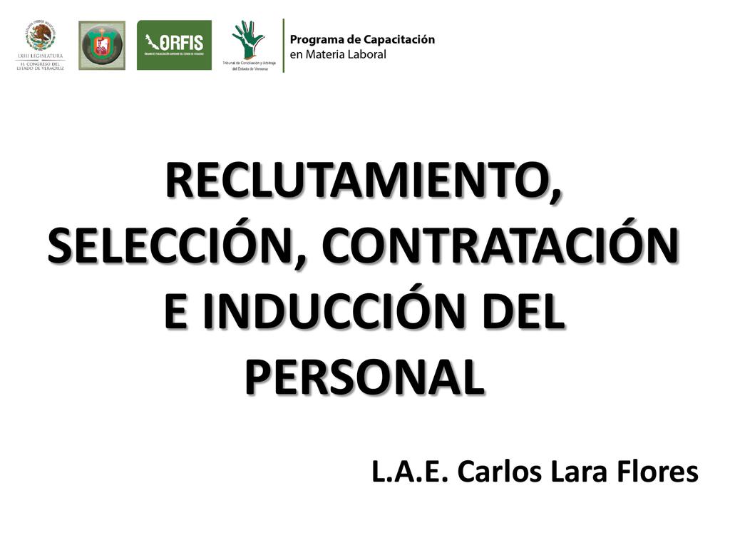 Reclutamiento Seleccion Contratacion E Induccion Del Personal