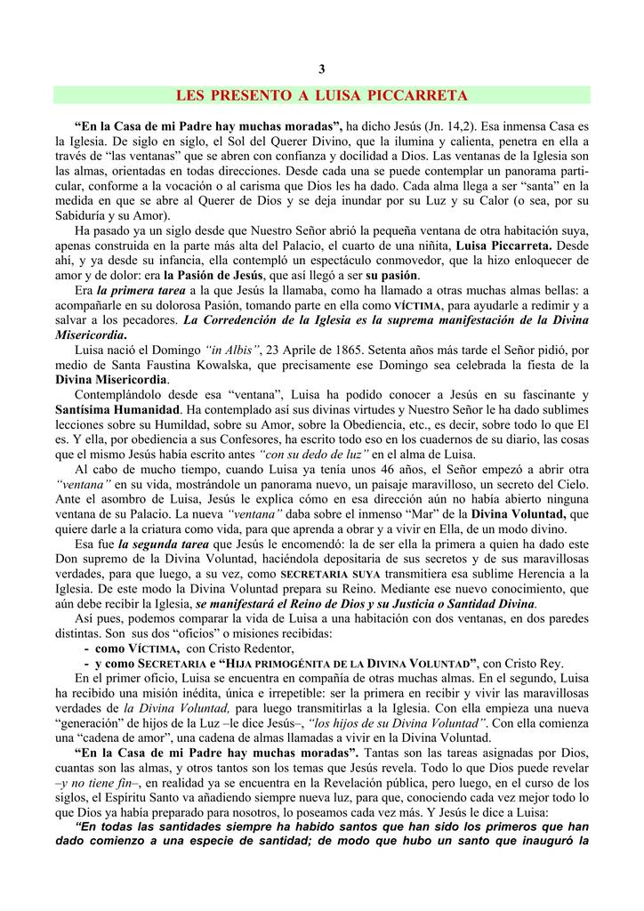 el libro del cielo luisa piccarreta pdf