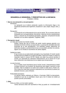 [PDF] Desarrollo sensorial y perceptivo de la infancia