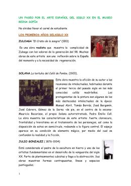 un paseo por el arte espaÑol del siglo xx en el museo reina sofÍa