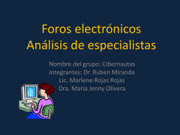Foros electrónicos 1rasessionmod3