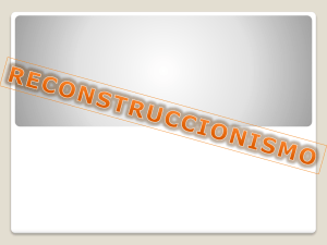 RECONSTRUCCIONISMO FUND EDU