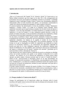 """-Notas de clase - Libman, E (2010) """"Controversia del Capital"""""""