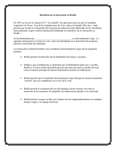 Benefits of Braille Instruction (Spanish)