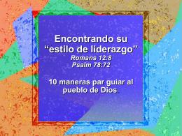 """Encontrando su """"estilo de liderazgo"""" 10 maneras par guiar al pueblo de Dios"""