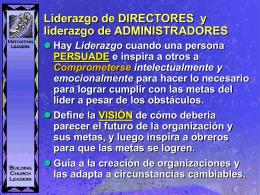 Director, administrador y líderes en la iglesia