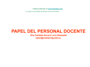 Papel del personal docente (ppt)