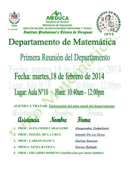 ACTA N°1  FEB 2014