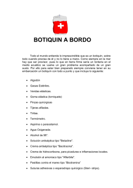 BOTIQUIN A BORDO