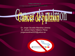 Cancer de Pulmon (ppt)